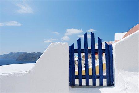 Gateway and Ocean, Oia, Santorini Island, Cyclades Islands, Greek Islands, Greece Stock Photo - Premium Royalty-Free, Code: 600-06125810