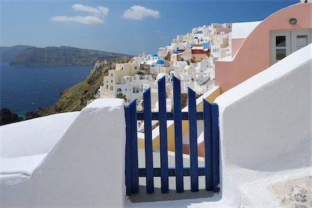 Gateway and Ocean, Oia, Santorini Island, Cyclades Islands, Greek Islands, Greece Stock Photo - Premium Royalty-Free, Code: 600-06125811