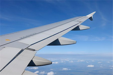 Airplane Wing, Flying Over Europe Stock Photo - Premium Royalty-Free, Code: 600-06125826