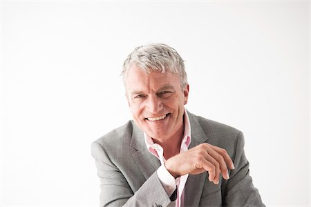 portrait smile caucasian one - Portrait of Man Stock Photo - Premium Royalty-Free, Code: 600-06144750