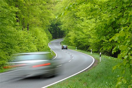 Road Through Forest, Spessart, Bavaria, Germany, Europe Stock Photo - Premium Royalty-Free, Code: 600-06144896