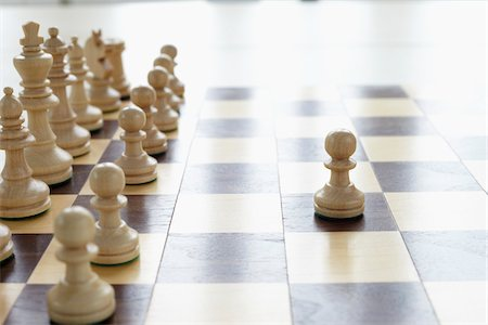 strategy - Chessboard and Chess Pieces Stock Photo - Premium Royalty-Free, Code: 600-06180177