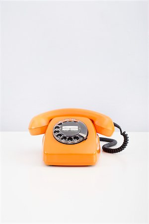 Orange Telephone Stock Photo - Premium Royalty-Free, Code: 600-06302222