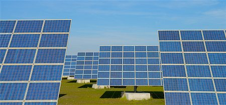 energia - Rows of Solar Panels, Hesse, Germany Fotografie stock - Premium Royalty-Free, Codice: 600-06334297