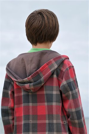 Back View of Boy, Ile de Re, France Stock Photo - Premium Royalty-Free, Code: 600-06334384