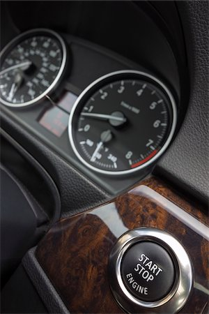 Close-up of Car Dashboard with Start Button Stock Photo - Premium Royalty-Free, Code: 600-06334453