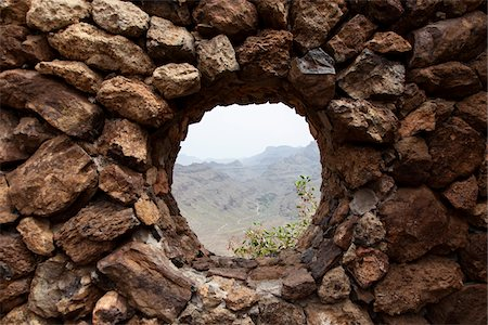 Stone Wall Window, Canary Islands Stock Photo - Premium Royalty-Free, Code: 600-06355290