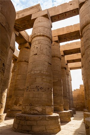 egypt - Great Hypostyle Hall, Temple of Amun, Karnak Temple, Luxor, Egypt Stock Photo - Premium Royalty-Free, Code: 600-06355335