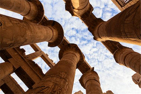 pillar - Great Hypostyle Hall, Temple of Amun, Karnak Temple, Luxor, Egypt Stock Photo - Premium Royalty-Free, Code: 600-06355331