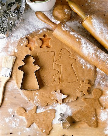 Gingerbread Cookie Dough Stock Photo - Premium Royalty-Free, Code: 600-06355377