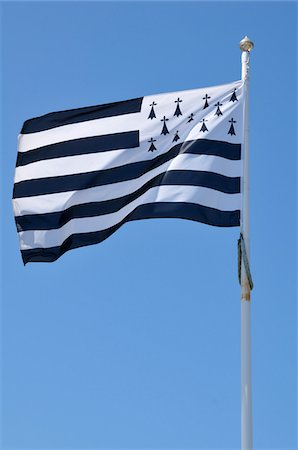 Brittany Flag, Brittany, France Stock Photo - Premium Royalty-Free, Code: 600-06368371