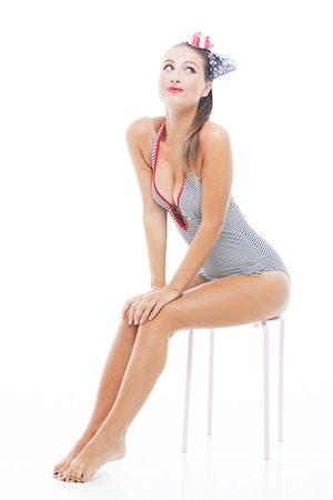 sexi women full body - Pin-Up Girl Stock Photo - Premium Royalty-Free, Code: 600-06382889