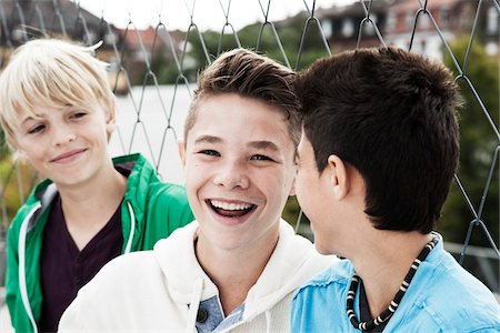 Portrait of Boys Hanging Out in Playground, Mannheim, Baden-Wurttemberg, Germany Stock Photo - Premium Royalty-Free, Code: 600-06382883