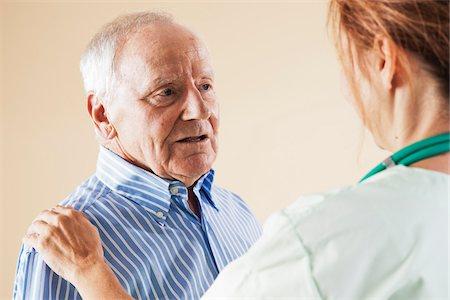 Senior Man with Doctor Stock Photo - Premium Royalty-Free, Code: 600-06382925