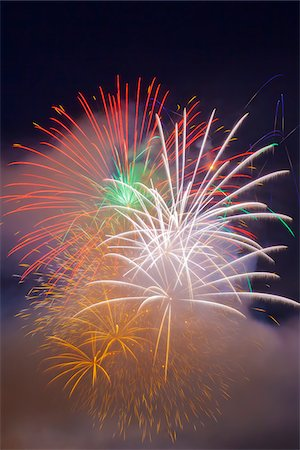 fireworks colored picture - Celebration of Light Fireworks, English Bay, Vancouver, British Columbia, Canada Stock Photo - Premium Royalty-Free, Code: 600-06383883