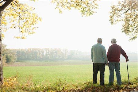 Men on Walk, Lampertheim, Hesse, Germany Stock Photo - Premium Royalty-Free, Code: 600-06397400