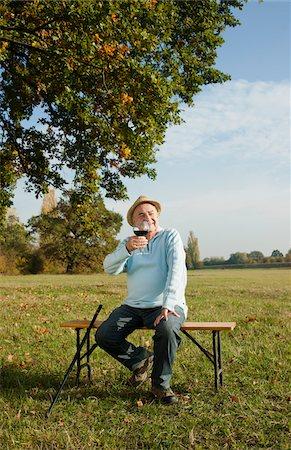 Man Drinking Wine, Lampertheim, Hesse, Germany Stock Photo - Premium Royalty-Free, Code: 600-06397411