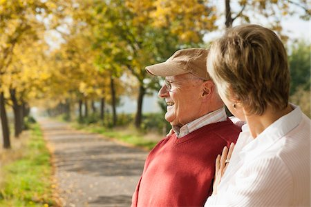 Mature Woman with Senior Father in Autumn, Lampertheim, Hesse, Germany Stock Photo - Premium Royalty-Free, Code: 600-06397459
