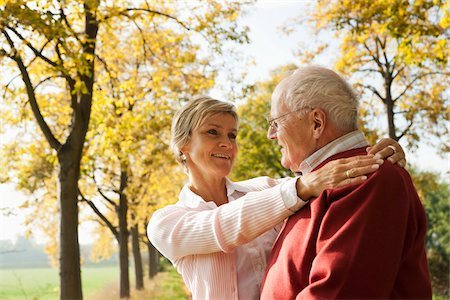 Mature Woman with Senior Father in Autumn, Lampertheim, Hesse, Germany Stock Photo - Premium Royalty-Free, Code: 600-06397464