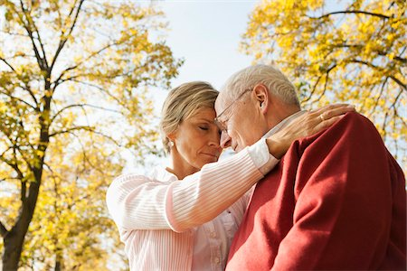 Mature Woman with Senior Father in Autumn, Lampertheim, Hesse, Germany Stock Photo - Premium Royalty-Free, Code: 600-06397465