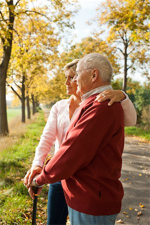 Mature Woman with Senior Father in Autumn, Lampertheim, Hesse, Germany Stock Photo - Premium Royalty-Free, Code: 600-06397461