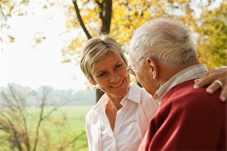 Mature Woman with Senior Father in Autumn, Lampertheim, Hesse, Germany Stock Photo - Premium Royalty-Free, Code: 600-06397463