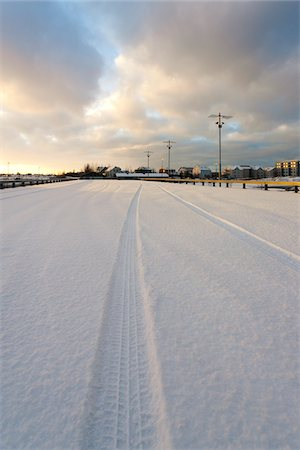 small town snow - Snow Covered Parking Lot, Reykjavik, Greater Reykjavik, Iceland Stock Photo - Premium Royalty-Free, Code: 600-06407809