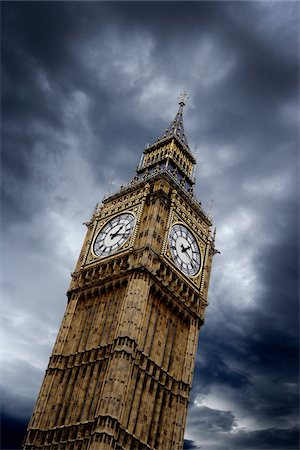 The Palace of Westminster, Elizabeth Tower (Big Ben).  London, England Stock Photo - Premium Royalty-Free, Code: 600-06407875