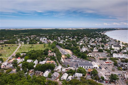 Overview of Town and Shoreline, Provincetown, Cape Cod, Massachusetts, USA Stock Photo - Premium Royalty-Free, Code: 600-06431196
