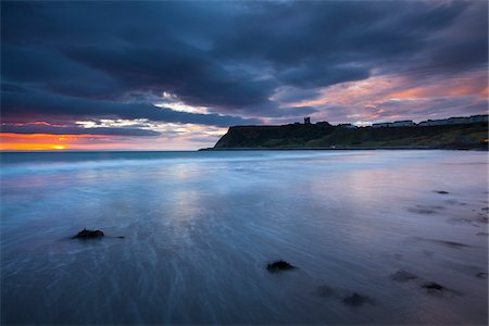 South Bay and Scarborough Castle in the Distance, Scarborough, North Yorkshire, Yorkshire, Yorkshire and the Humber, England Stock Photo - Premium Royalty-Free, Code: 600-06452094