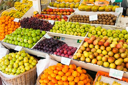 portugal - Huge Displays at the Farmer's Market (Mercado dos Lavradores), a Vegetable and Fruit Market, Elevated View, Funchal, Madeira, Portugal Stock Photo - Premium Royalty-Free, Code: 600-06486140