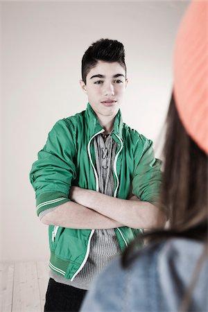 Boy and Girl Arguing in Studio Stock Photo - Premium Royalty-Free, Code: 600-06486438