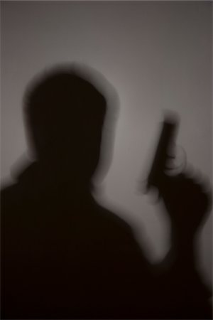shadow - Shadow of Man with Gun Stock Photo - Premium Royalty-Free, Code: 600-06486480