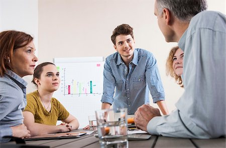 Business People Working and Meeting in Office Stock Photo - Premium Royalty-Free, Code: 600-06620998