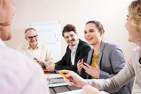 Group of Business People having Meeting in Boardroom Stock Photo - Premium Royalty-Free, Code: 600-06645487