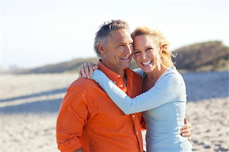 Portrait of Mature Couple on Beach, Jupiter, Palm Beach County, Florida, USA Stock Photo - Premium Royalty-Free, Code: 600-06701934