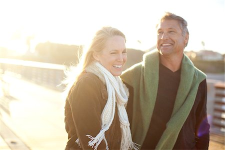 Mature Couple Walking along Pier, Jupiter, Palm Beach County, Florida, USA Stock Photo - Premium Royalty-Free, Code: 600-06732644