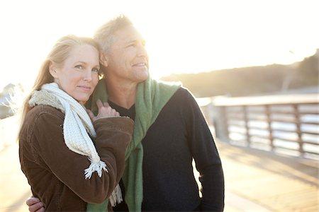 Mature Couple Walking along Pier, Jupiter, Palm Beach County, Florida, USA Stock Photo - Premium Royalty-Free, Code: 600-06732646