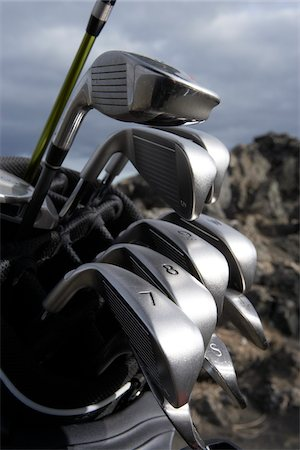Close-up of Golf Clubs Stock Photo - Premium Royalty-Free, Code: 600-06758150