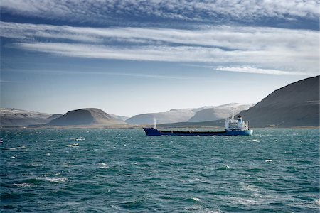Tanker Ship, Hvalfjordur, Iceland Stock Photo - Premium Royalty-Free, Code: 600-06758166
