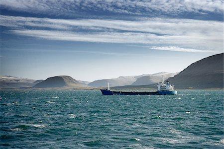 ships at sea - Tanker Ship, Hvalfjordur, Iceland Stock Photo - Premium Royalty-Free, Code: 600-06758166