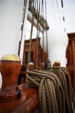 Close-up of Mooring Post of Sailboat Stock Photo - Premium Royalty-Free, Code: 600-06758183