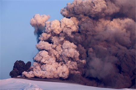 smoke - Ash and Smoke from Eyjafjallajokull Volcano Erupting, Iceland Stock Photo - Premium Royalty-Free, Code: 600-06752053