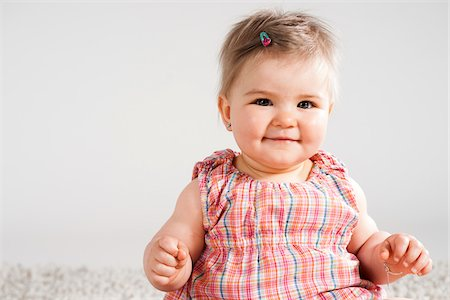 Portrait of Baby Girl, Studio Shot Stock Photo - Premium Royalty-Free, Code: 600-06752368