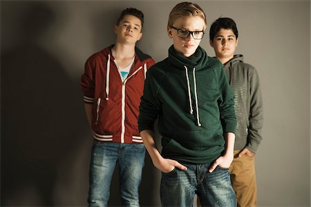 Portrait of Teenage Boys, Studio Shot Stock Photo - Premium Royalty-Free, Code: 600-06752474