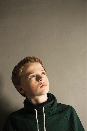 Head and Shoulder Portrait of Boy, Studio Shot Stock Photo - Premium Royalty-Free, Code: 600-06752471