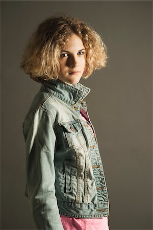 Portrait of Teenage Girl, Studio Shot Stock Photo - Premium Royalty-Free, Code: 600-06752485