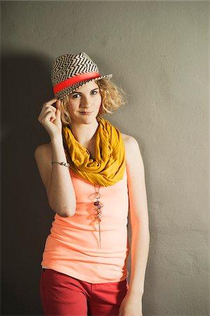 Portrait of Teenage Girl, Studio Shot Stock Photo - Premium Royalty-Free, Code: 600-06752509