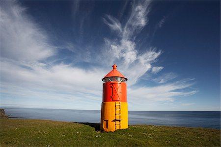 Lighthouse at Krisuvikurbjarg, Reykjanes, Iceland Stock Photo - Premium Royalty-Free, Code: 600-06752544