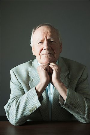 Portrait of Elderly Man in Studio Stock Photo - Premium Royalty-Free, Code: 600-06787020